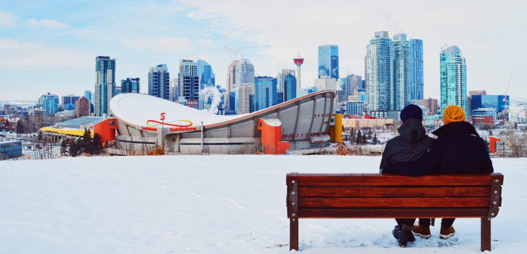 Our best view from Scotsman's Hill   Fat Tire Biking Calgary Nomad Gear Rentals © CoupleofMen.com