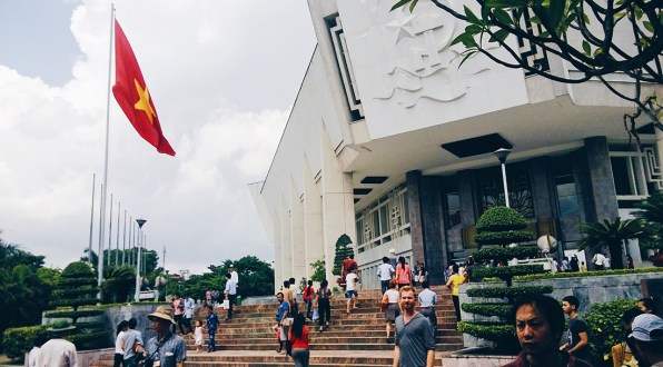 Ho Chi Minh Mausoleum Area in Hanoi | Top Highlights Best Photos Gay Couple Travel Vietnam © CoupleofMen.com