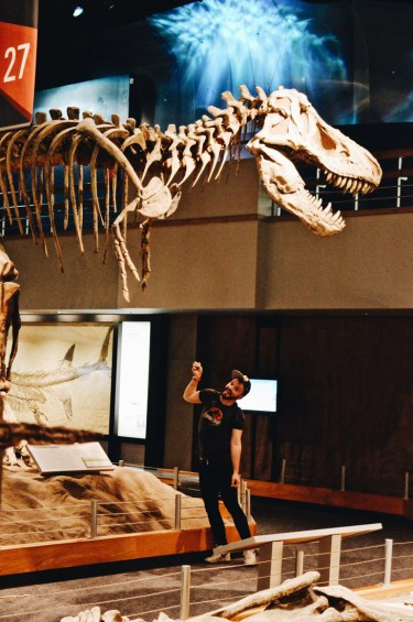 Karl and his T-Rex | Royal Tyrrell Museum Palaeontology Drumheller Alberta Canada © CoupleofMen.com