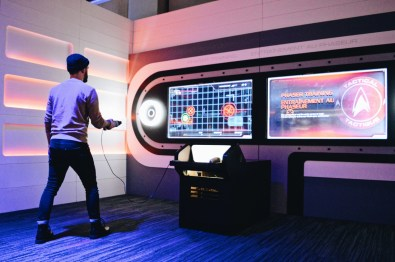Karl during a Phaser Test | Telus Spark Calgary Star Trek Academy Experience © CoupleofMen.com