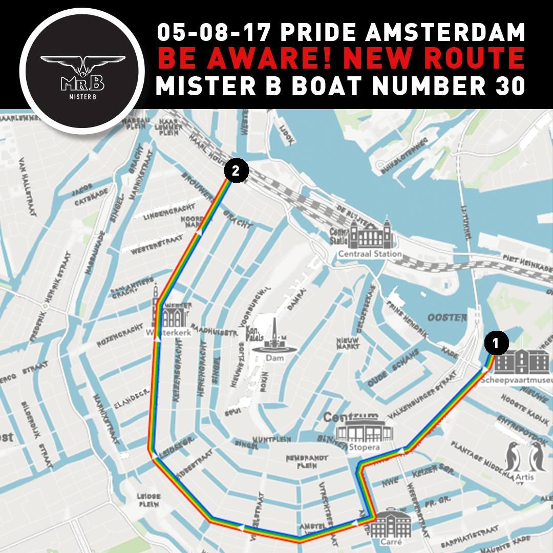 Let's spread the love (Euro Pride Parade Amsterdam) | Amsterdam Canal Gay Pride Program Highlights Tips © CoupleofMen.com