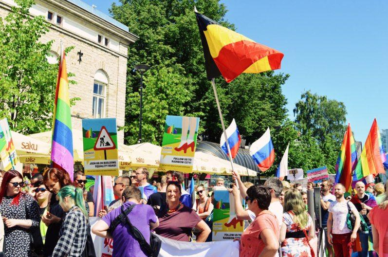 International participants from Belgium attending Baltic Pride 2017 Tallinn Best Powerful LGBTQ Photos © CoupleofMen.com