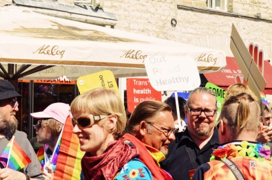 Dressed protesters along the Gay Pride Route | Baltic Pride 2017 Tallinn Best Powerful LGBTQ Photos © CoupleofMen.com