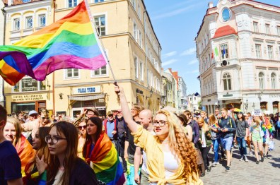 Rainbow flag during Tallinn Pride | Baltic Pride 2017 Tallinn Best Powerful LGBTQ Photos © CoupleofMen.com
