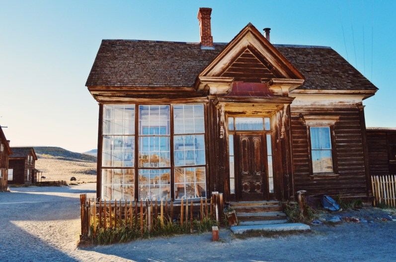 "Mirror photos old town Bodie ""Old Gold"" 
