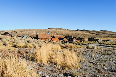 Gold Rush Town Bodie nestled in a valley at Bodie State Historic Park | Ghost Town Bodie State Historic Park California © CoupleofMen.com