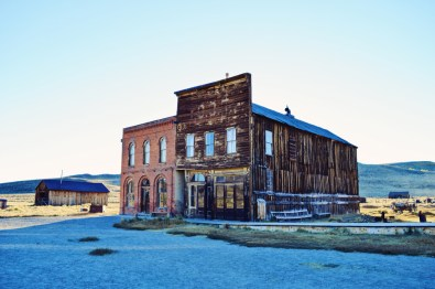 Bodie Post Office and IOOF Hall while sun set | Ghost Town Bodie State Historic Park California © CoupleofMen.com