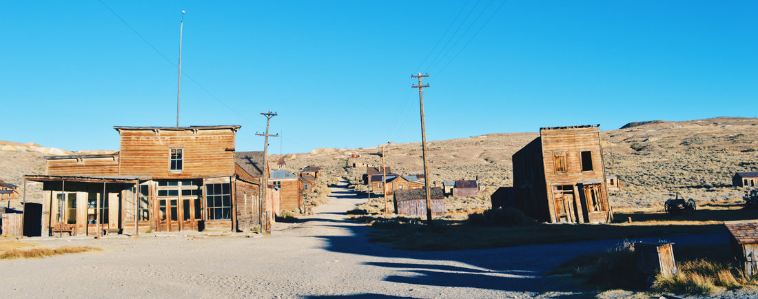 Main Street of Wild West's Gold Town | Ghost Town Bodie State Historic Park California © CoupleofMen.com