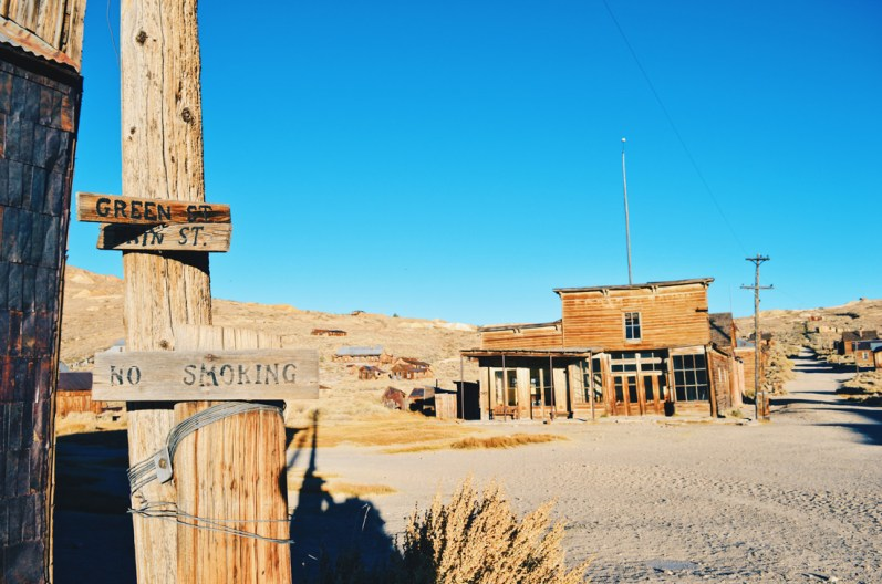 Green Street of Wild West's Gold Ghost Town Bodie | Ghost Town Bodie State Historic Park California © CoupleofMen.com
