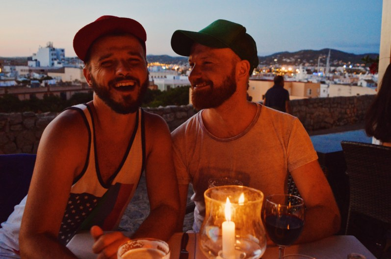 Ibiza Gay Travel Tips Gay Travel Ibiza We love Ibiza! | Gay Couple Travel Gay Beach Ibiza Town Spain © CoupleofMen.com