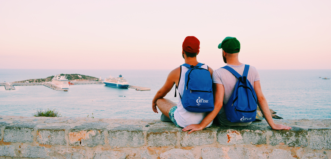 Ibiza Gay Travel Tips Gay Travel Ibiza: Karl & Daan enjoying the view over Ibiza Port | © Coupleofmen.com