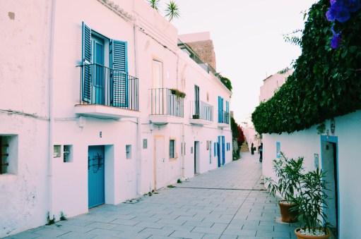 White old town houses of Ibiza | Gay Couple Travel Gay Beach Ibiza Town Spain © CoupleofMen.com