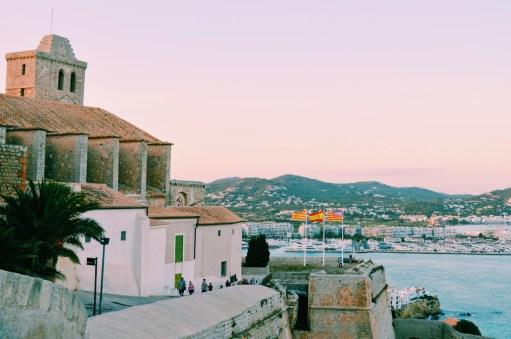 Cathedral Santa María and La Marina y Sa Penya | Gay Couple Travel Gay Beach Ibiza Town Spain © CoupleofMen.com