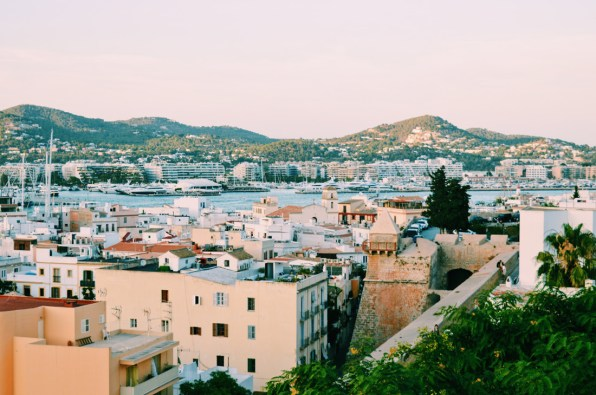 Gay Travel Ibiza Ibiza Town and harbor by sunset | Gay Couple Travel Gay Beach Ibiza Town Spain © CoupleofMen.com