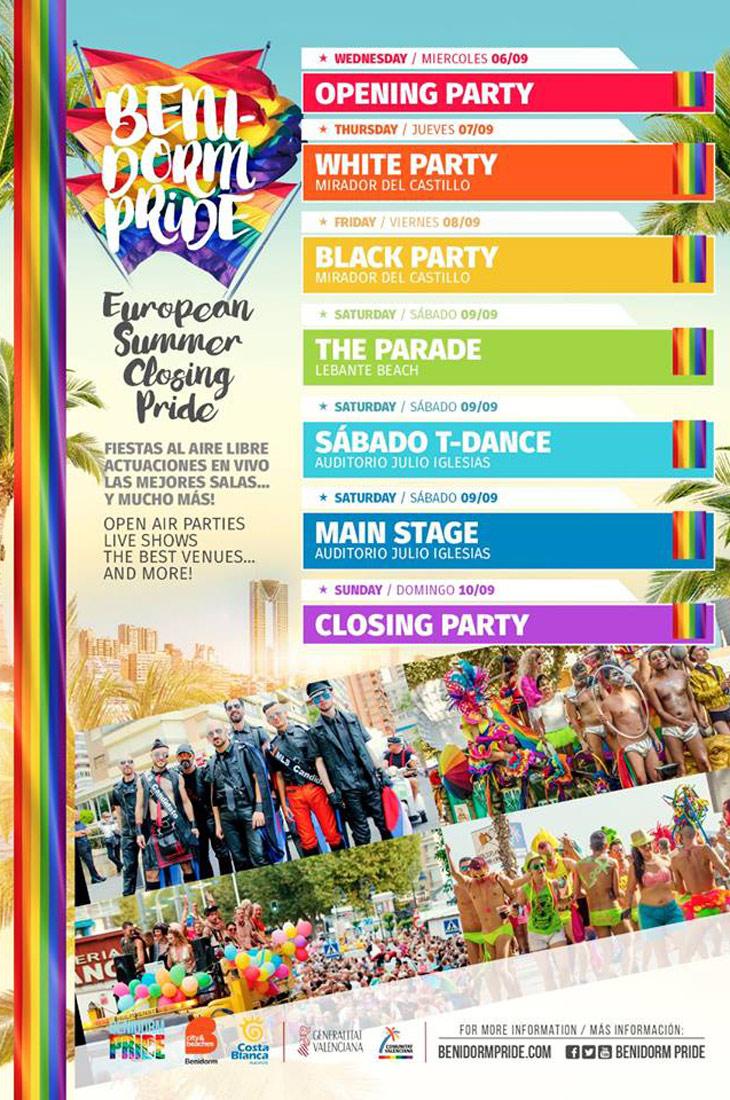 Official program Benidorm Pride 2017 | Gay Couple Travel Blogger Benidorm Pride Spain