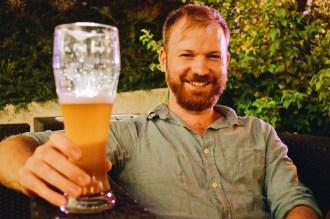 Daan love a real big Austria beer!   ROCKET ROOMS Velden Wörthersee gay-friendly © CoupleofMen.com