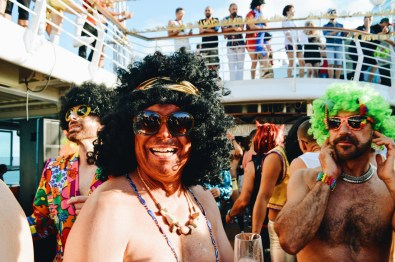 Definitely a red smile! | Disco T-Dance Party The Cruise 2017 © CoupleofMen.com