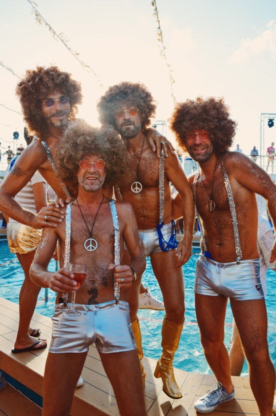 Silver Disco Boys | Disco T-Dance Party The Cruise 2017 © CoupleofMen.com