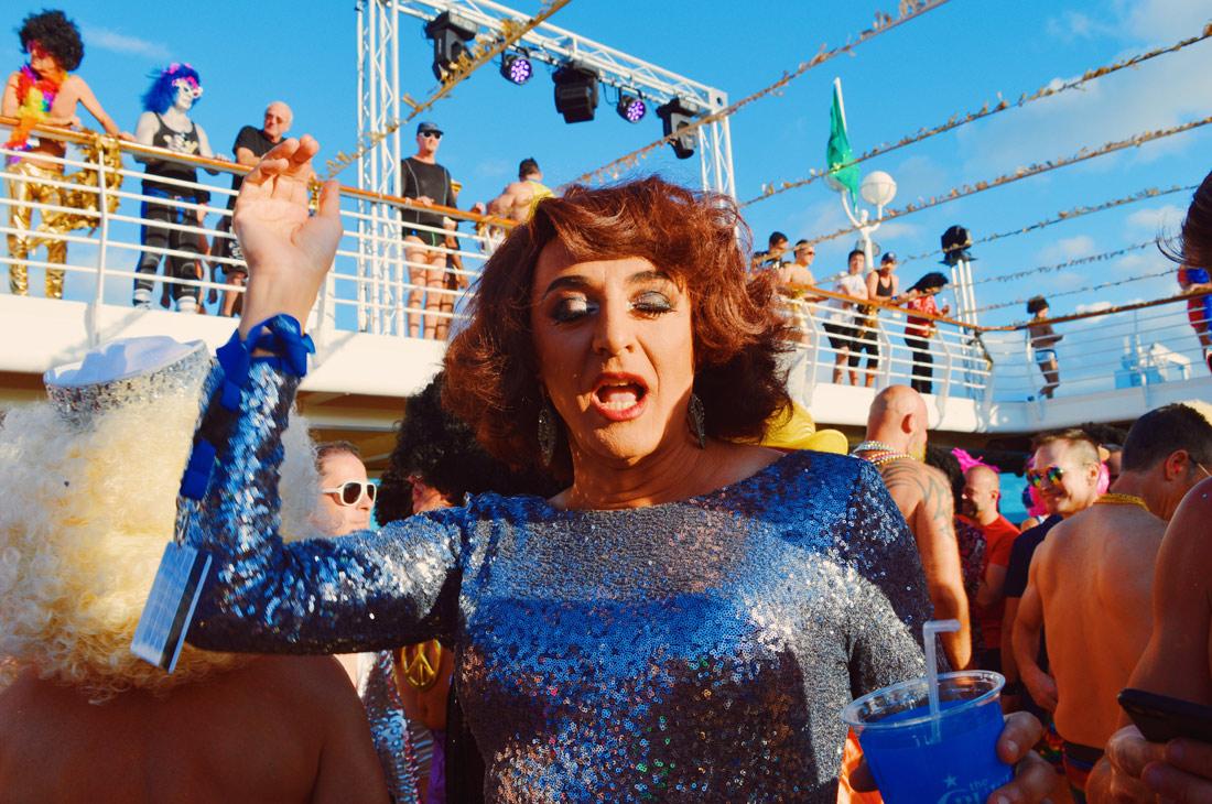 Disco Drag Queen of the night | Disco T-Dance Party The Cruise 2017 © CoupleofMen.com
