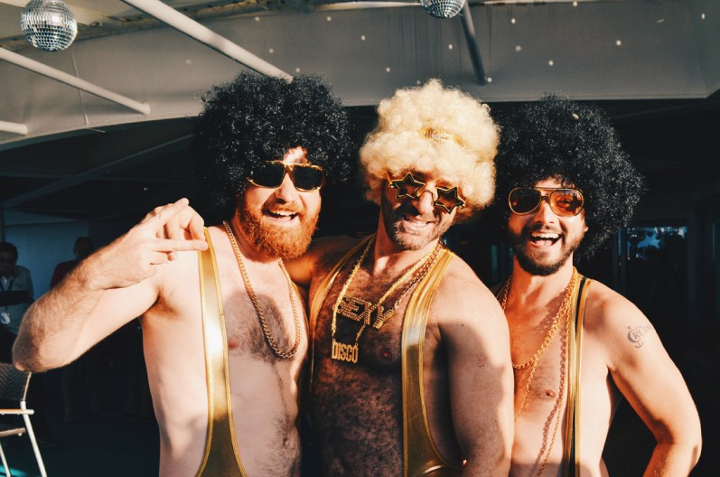 Golden Boys born to Disco | Disco T-Dance Party The Cruise 2017 © CoupleofMen.com