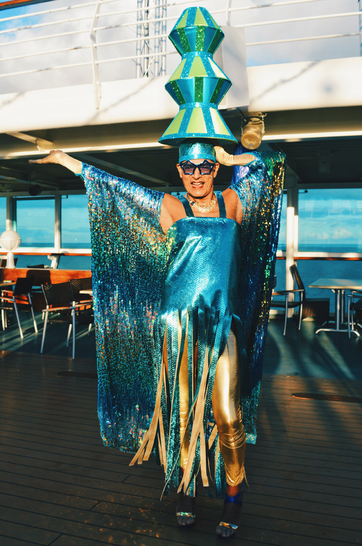 And this is definitely the highest hut tower ever | Disco T-Dance Party The Cruise 2017 © CoupleofMen.com