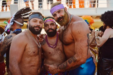 Disco friends from Costa Rica & Spain | Disco T-Dance Party The Cruise 2017 © CoupleofMen.com