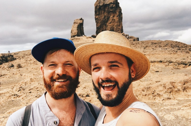 Selfie during our One-Day Travel Gran Canaria | Gay Couple Travel Diary The Cruise 2017 © CoupleofMen.com