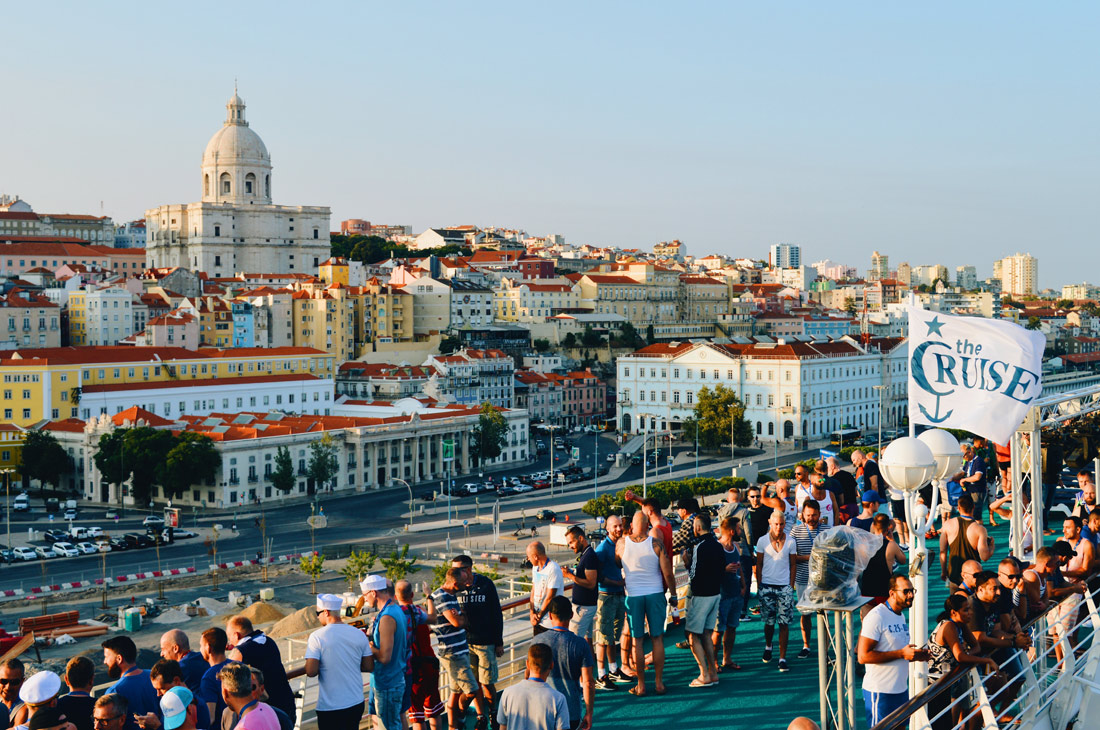 View from the Cruise Ship over Lisbon | Gay Couple Travel Diary The Cruise 2017 © CoupleofMen.com