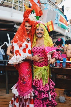 Two colorful Chica | Where are you from Party The Cruise 2017 © CoupleofMen.com