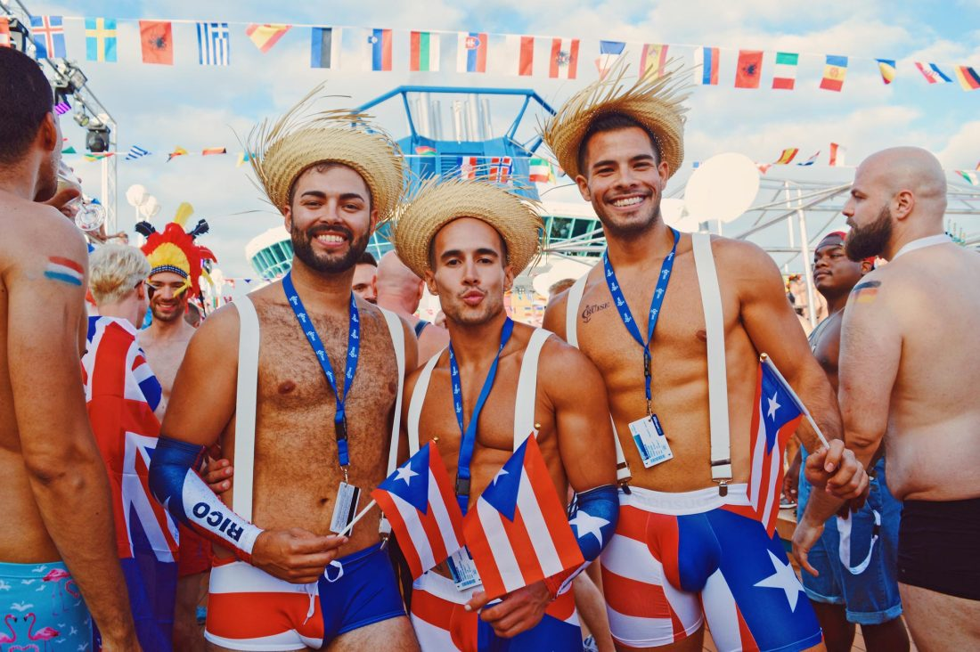 "The ""Where are you from"" Party during The Cruise 2017 © CoupleofMen.com"