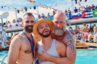 Reunion with German friends | Gay Couple Travel Diary The Cruise 2017 © CoupleofMen.com