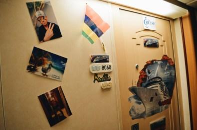 Decorated cabin on the Cruise Ship © CoupleofMen.com