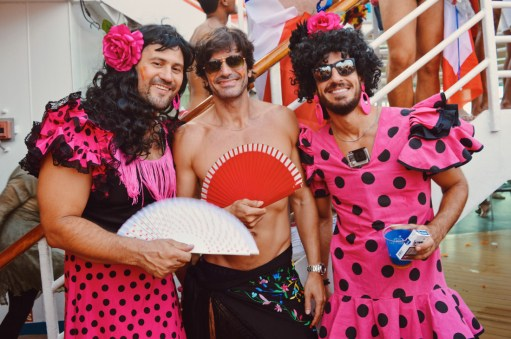 Pink Beauties   Where are you from Party The Cruise 2017 © CoupleofMen.com