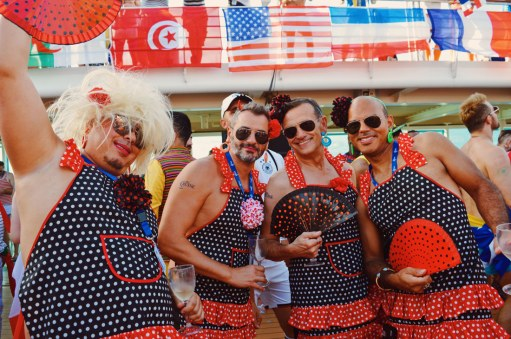 What a group of power women   Where are you from Party The Cruise 2017 © CoupleofMen.com