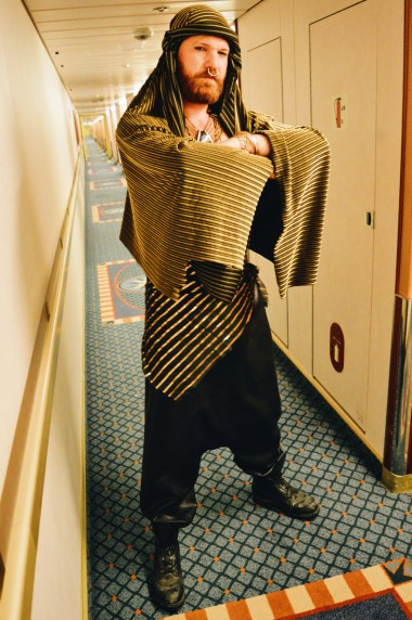 Daan in his 1001 Arabian Nights outfit | Gay Couple Travel Diary The Cruise 2017 © CoupleofMen.com