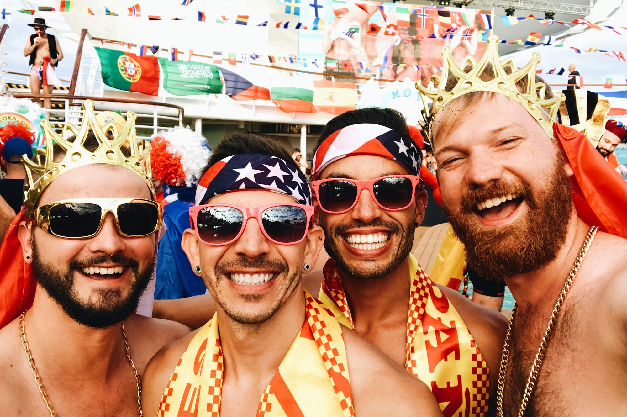 Gay Travel Blogger TwoBadTourists and Coupleofmen Where are you from Party The Cruise 2017 © CoupleofMen.com together Gay Travel Blogger TwoBadTourists