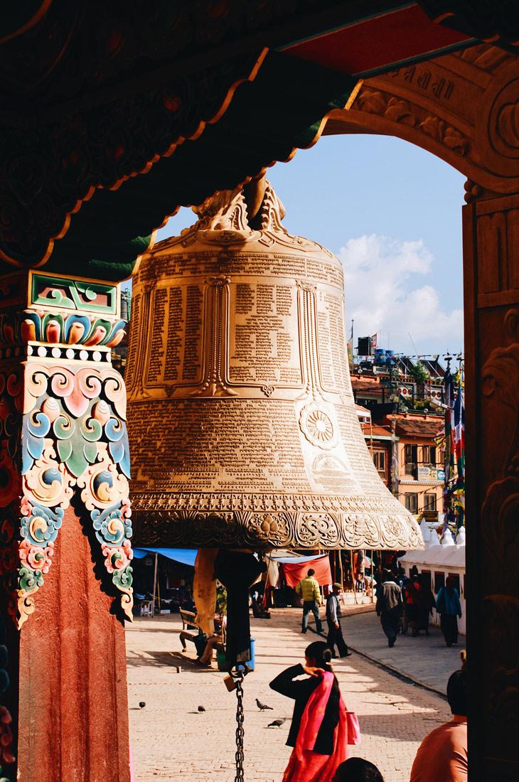 Prayers bell at Boudhanath Stupa | Gay Travel Nepal Photo Story Himalayas © Coupleofmen.com