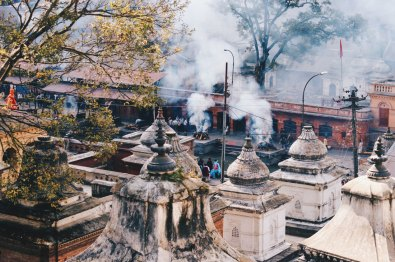 Cremation fires at Pashupatinath temple complex | Gay Travel Nepal Photo Story Himalayas © Coupleofmen.com