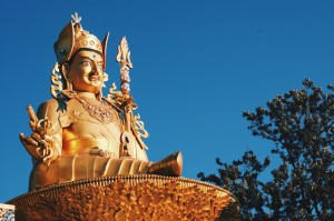 Right 19,5 meters high Golden Buddha Statue at Amideva Park   Gay Travel Nepal Photo Story Himalayas © Coupleofmen.com