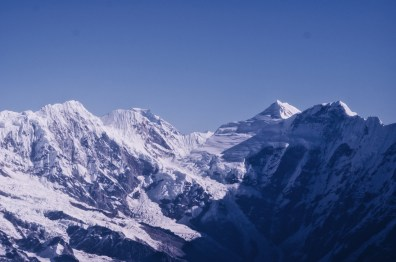 The snowy Himalayas our of the Yeti Airlines Plane   Gay Travel Nepal Photo Story Himalayas © Coupleofmen.com
