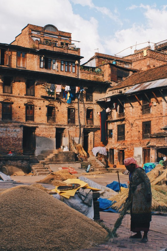 Working Nepalese woman in Bhaktapur   Gay Travel Nepal Photo Story Himalayas © Coupleofmen.com
