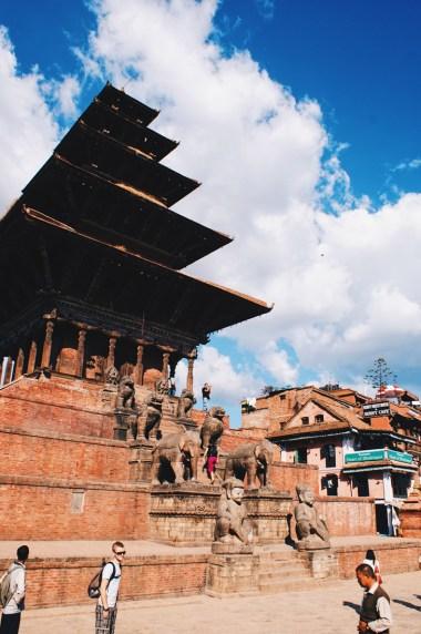Nyatapola-Temple in pagoda-style in Bhaktapur   Gay Travel Nepal Photo Story Himalayas © Coupleofmen.com