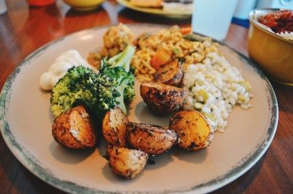 Lots of vegetarian options onboard the Monarch | Gay Couple Travel Diary The Cruise 2017 © CoupleofMen.com