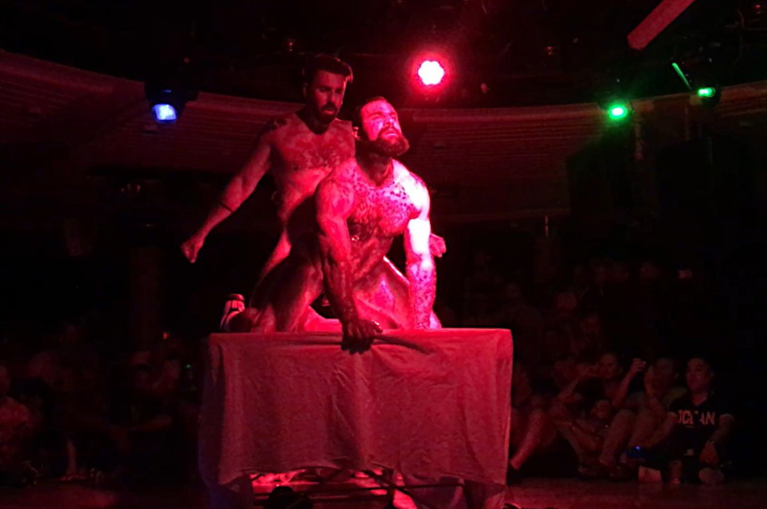 Photo of the first porn show on the Monarch | Gay Couple Travel Diary The Cruise 2017 © CoupleofMen.com