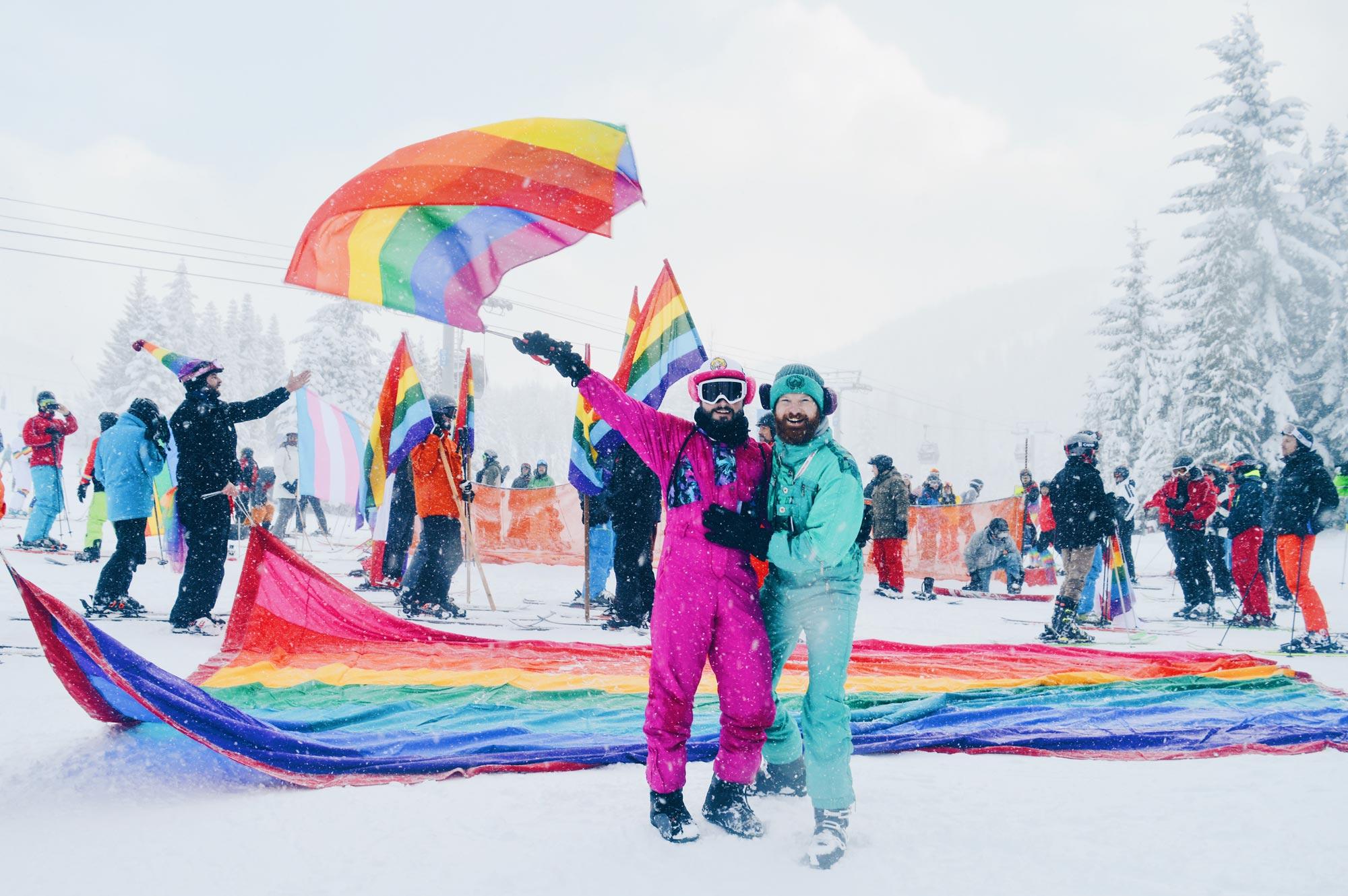 Whistler Pride & Ski Festival   Whistler Pride 2018 Gay Ski Week © CoupleofMen.com