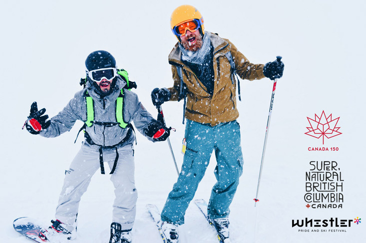 Gay Ski Week Canada Whistler Pride Travel 2018 © CoupleofMen.com