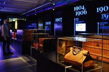 Timeline of Louis Vuitton travel trunks   Legendary Trunks Exhibition Amsterdam © Coupleofmen.com