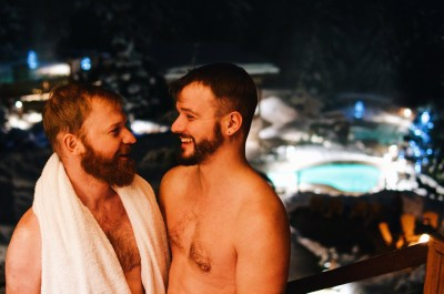at Scandinave Spa Whistler | Zip Lining Snowmobiling TAG Whistler Gay-friendly © Coupleofmen.com