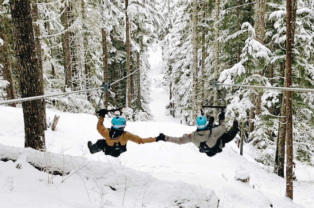 Outdoor Action! Zip-Lining & Snowmobiling with The Adventure Group (TAG) in Whistler | Canada