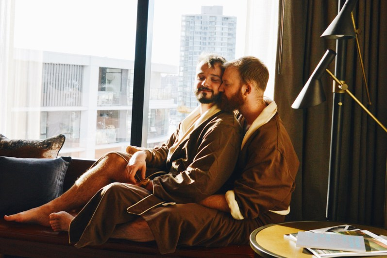 Morning View in Robes | The Douglas Vancouver Hotel gay-friendly © CoupleofMen.com